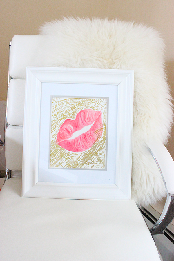 lips illustration drawing print