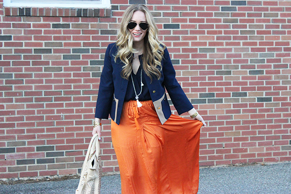 Maxi Skirt and Blazer