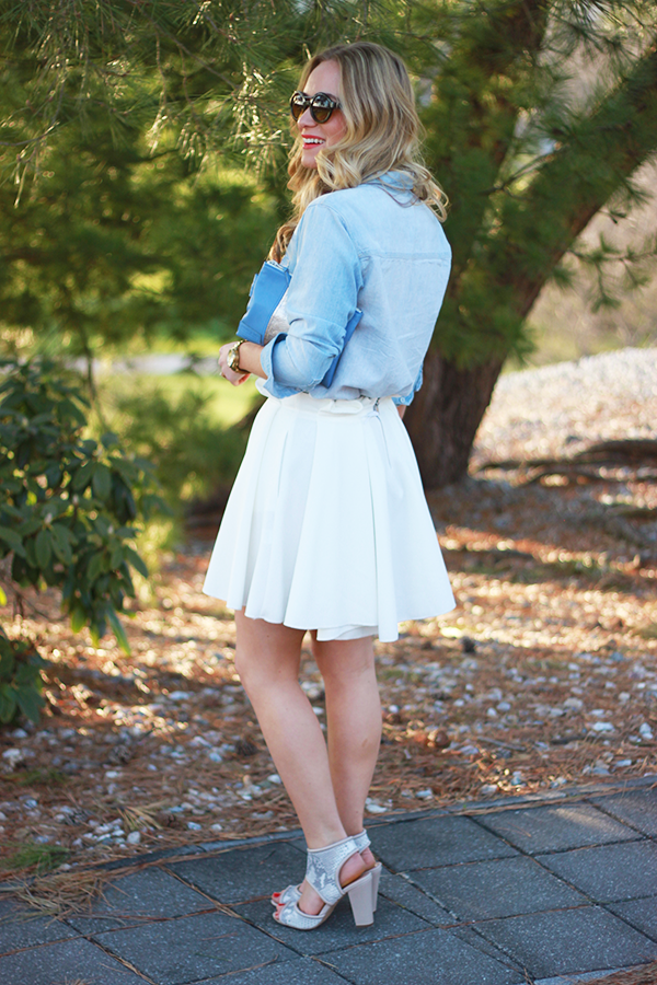 summer white skirt