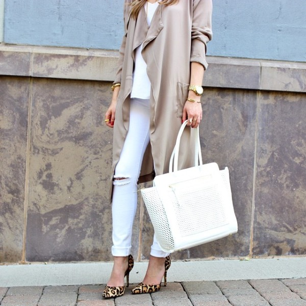 neutrals coming tomorrow on stylecusp.com // these ripped white jeans…