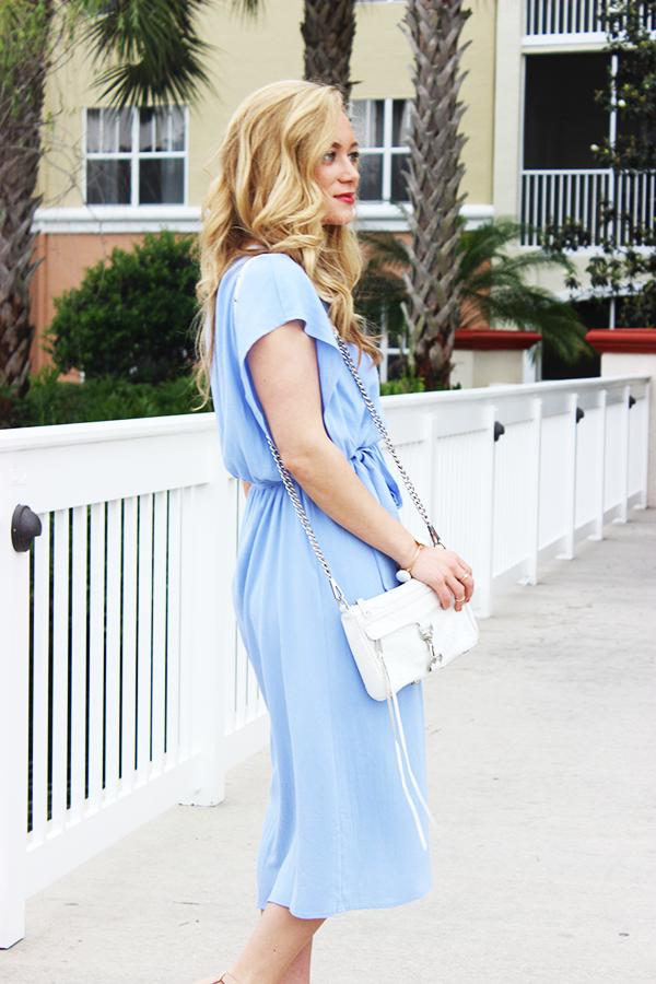 Midi Powder Blue Dress