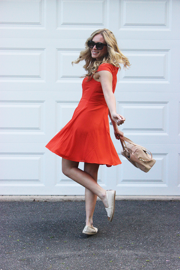 Red Dress Twirl