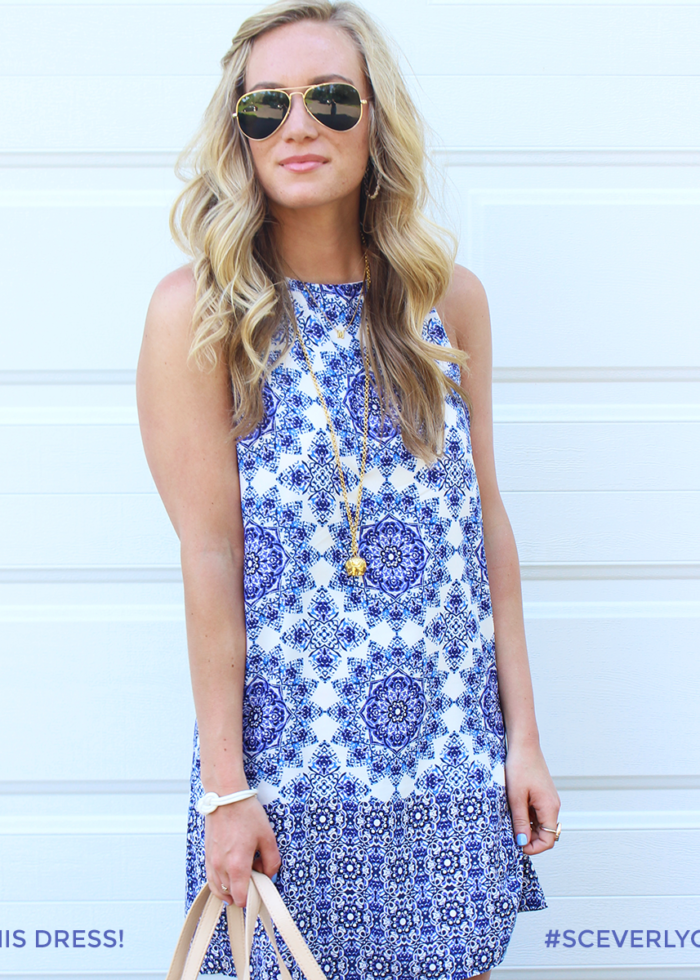 GIVEAWAY // PRINTED BLUE SHIFT