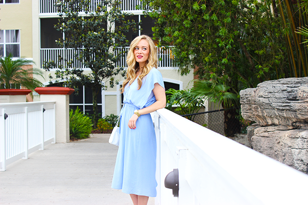 Style Cusp Flowy Powder Blue Dress