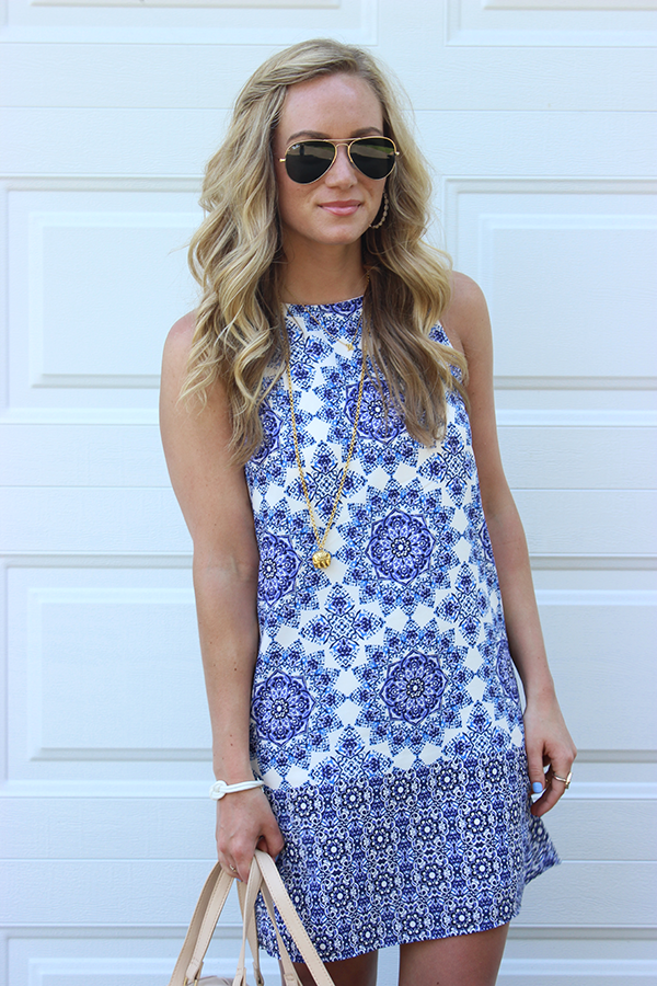 light blue shift dress