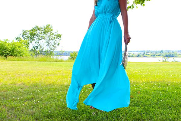 Calypso St Barth Turquoise Flowy Dress