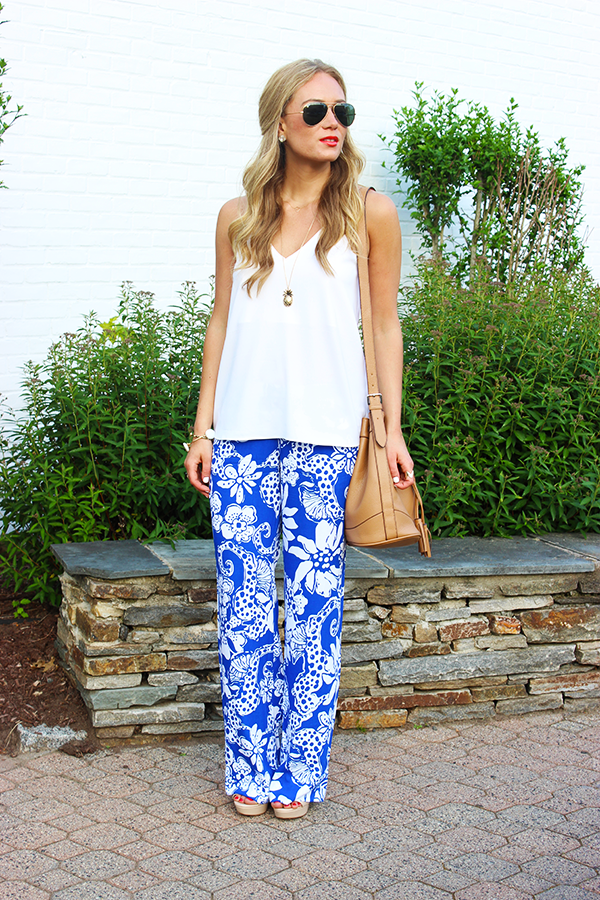 Cobalt Printed Pants