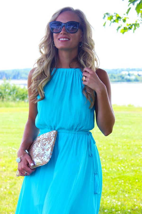 Style Cusp Flowy Turquoise Dress