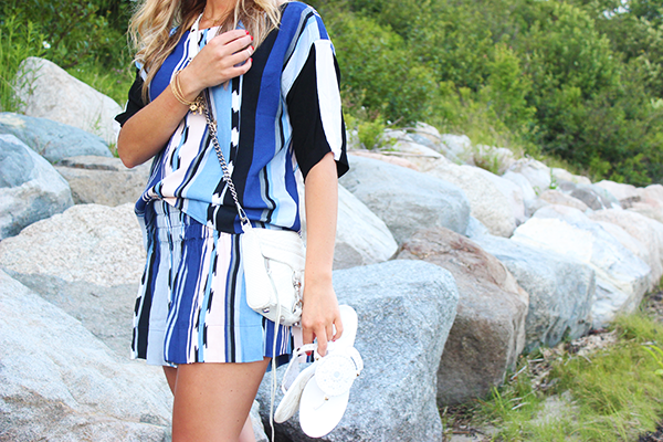 Blue Striped Matching Set
