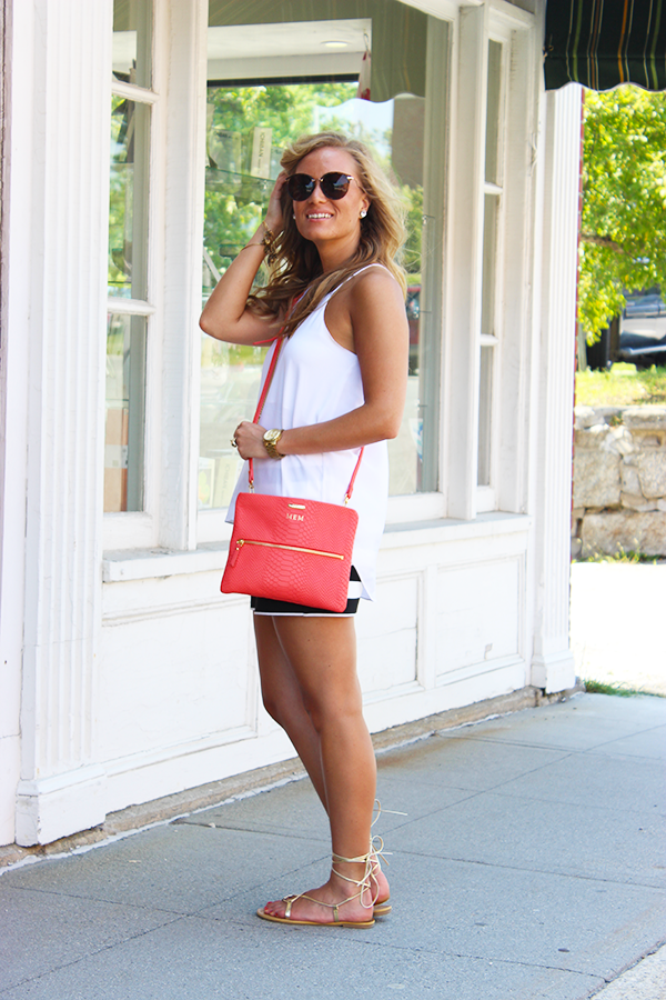 Coral with White