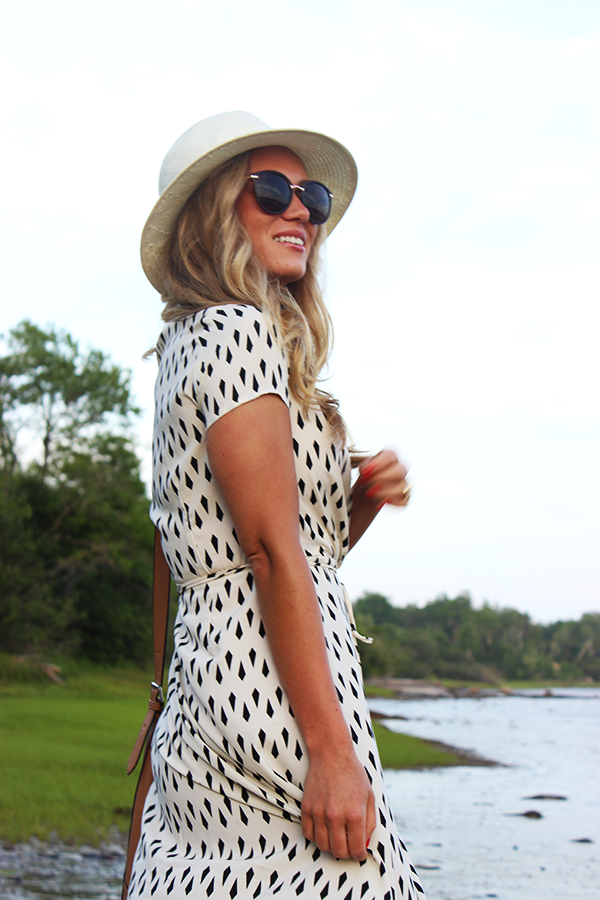 Dress with Panama Hat