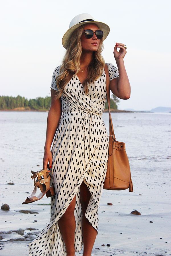 Geometric Wrap Dress