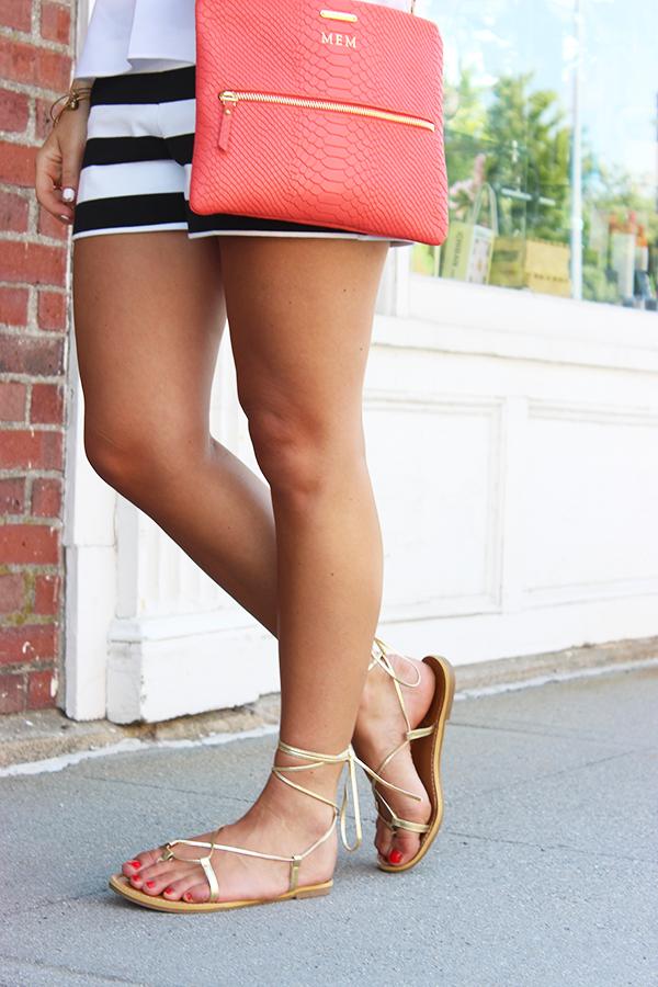 Lace Up Gold Sandal