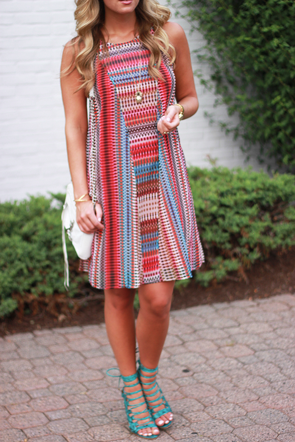 Red Turquoise Dress