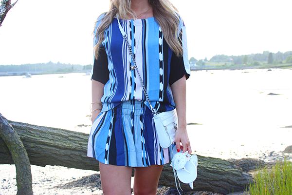 Striped Matching Blue Set