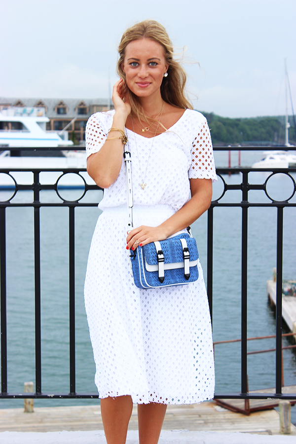 White Eyelet Skirt Set