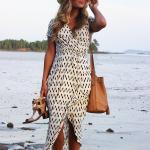 Wrap dress with Panama Hat