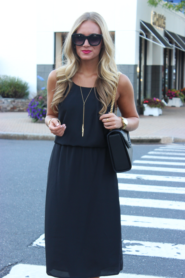 Black Dress with Red Lip