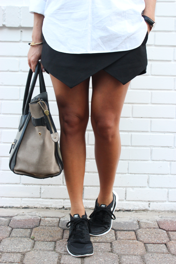 Sporty Skort and Nikes