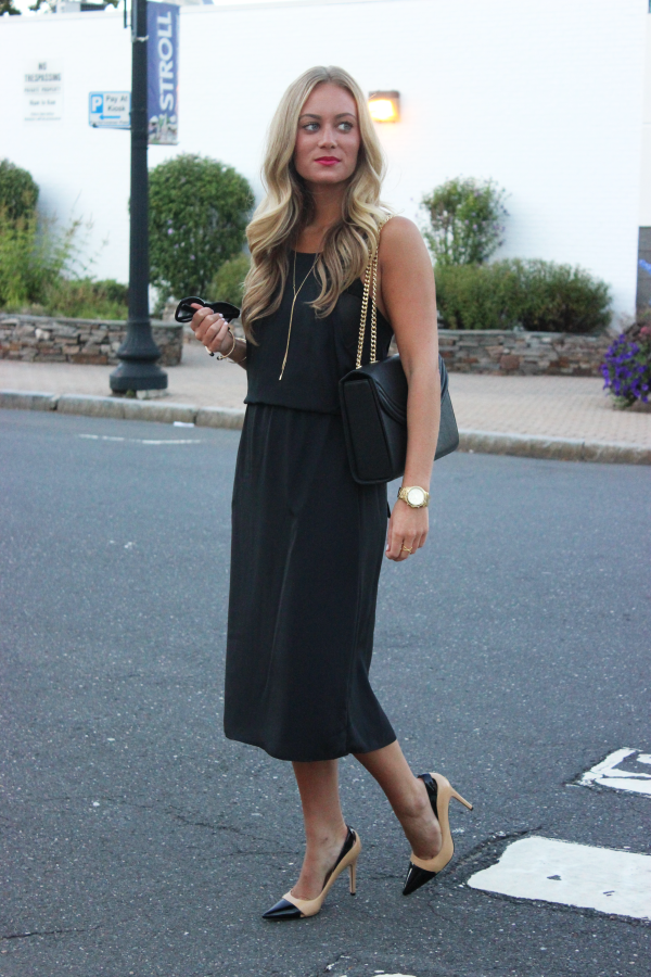 Style Cusp Black Midi Dress