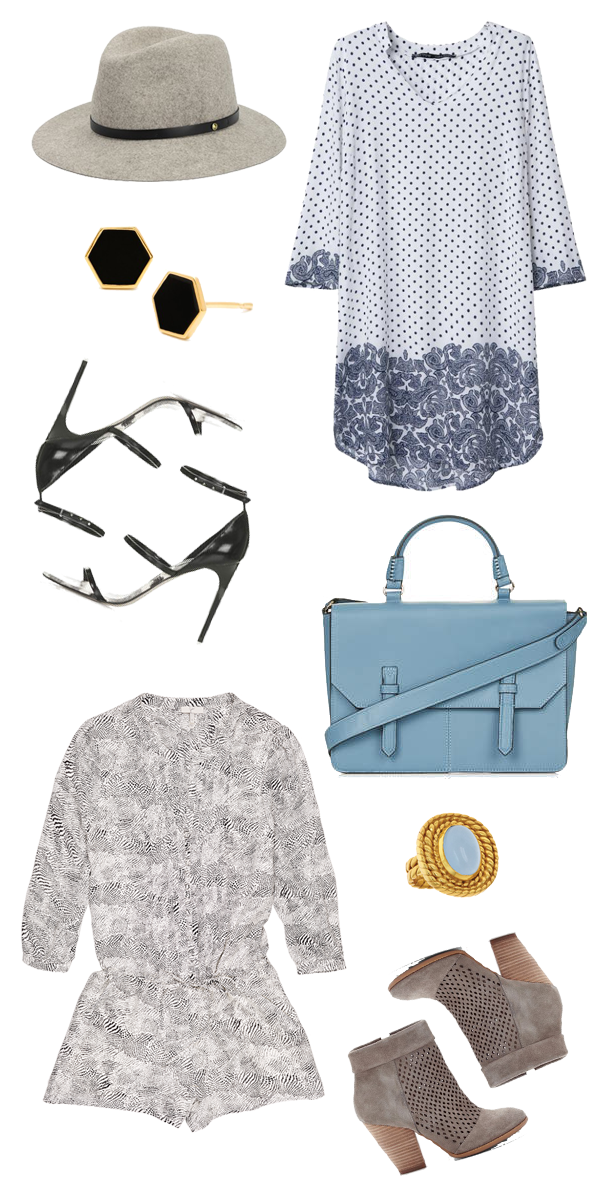 Fall Transition Pieces - Blue Black and Gray