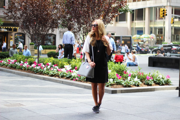 Black Shift Dress with Nikes