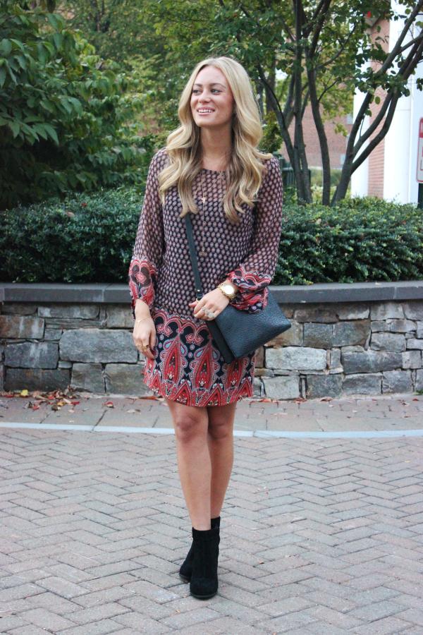 Fall Paisley Dress