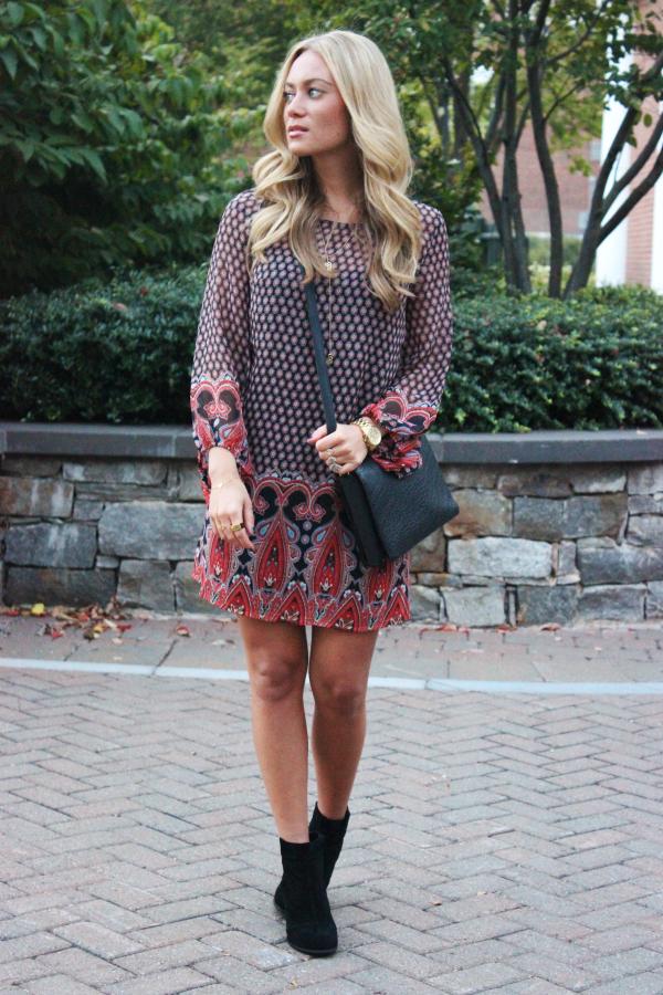 Printed Bohemian Dress