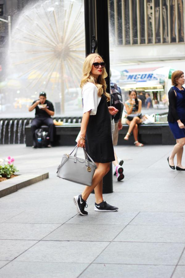 White Black Shift Dress