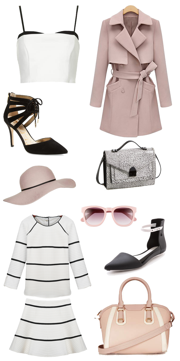 blush for fall, black and white for fall, how to wear blush