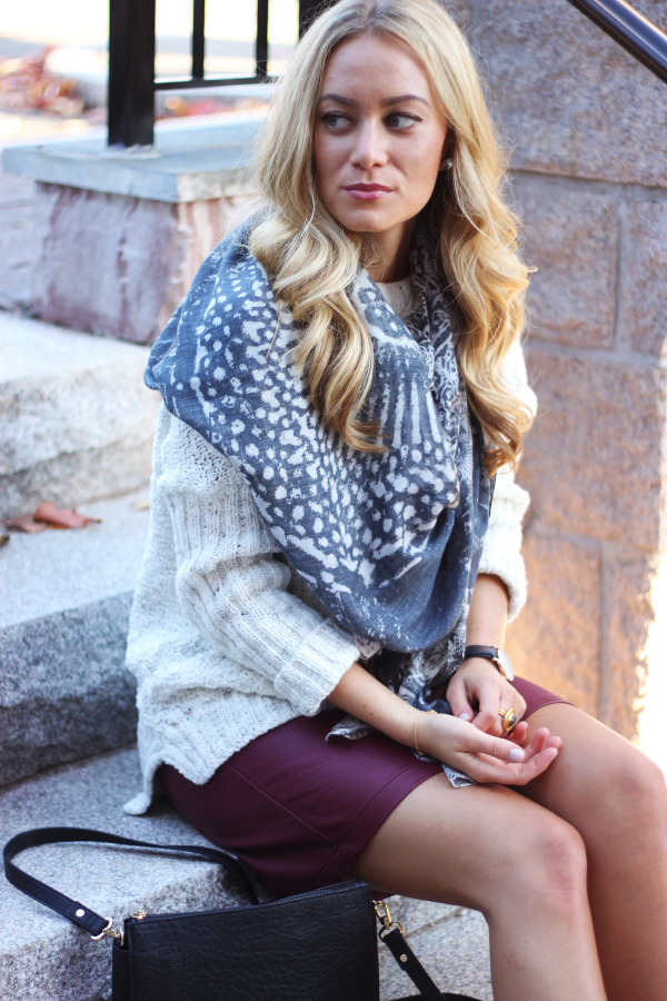 Chunky Sweater and Scarf