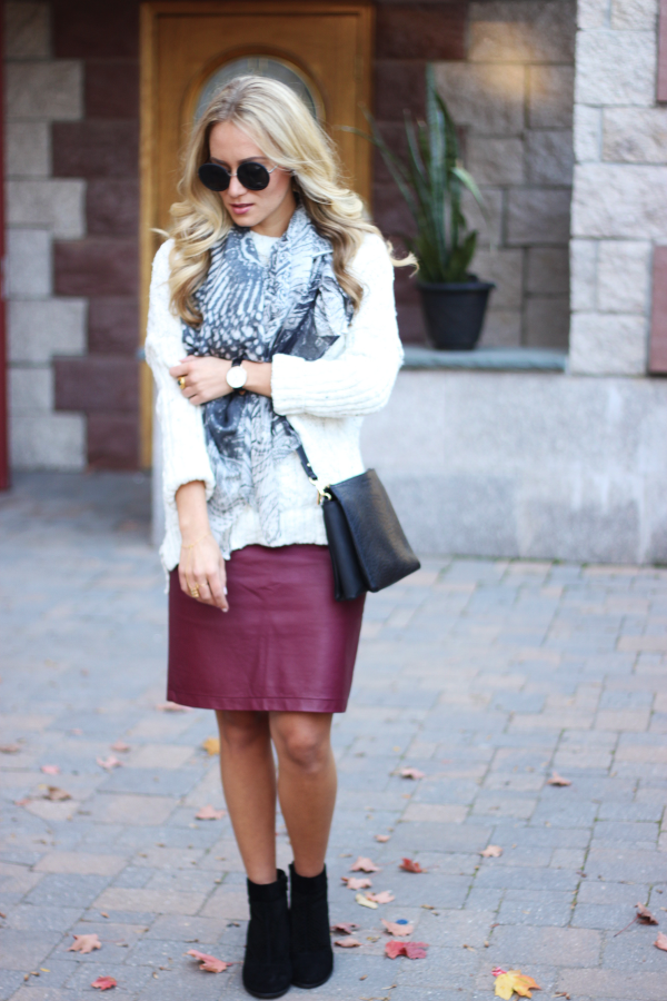 STYLE // Oversized Sweater + Pencil Skirt , Style Cusp