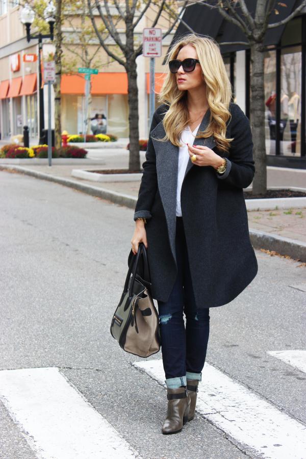 Gray Blanket Coat