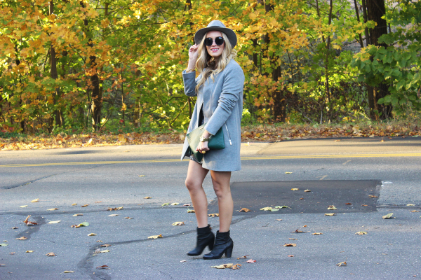 Gray Coat and Booties