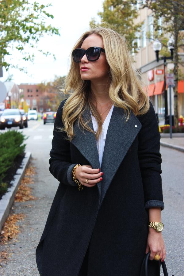 Gray Cocoon Coat