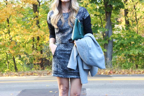 Gray Plaid Skirt