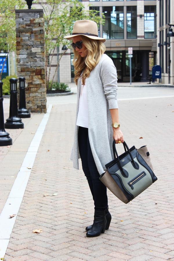 Gray Sweater Celine Bag