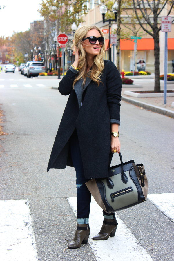Long Charcoal Gray Coat