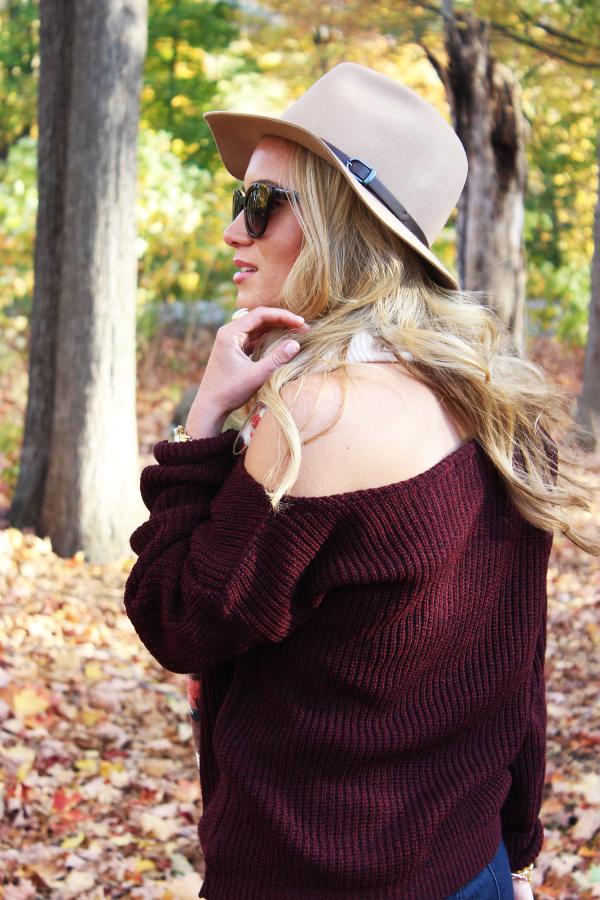 Maroon Fall Sweater