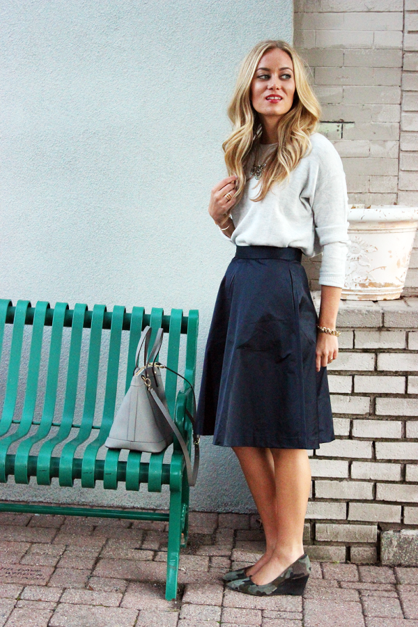 STYLE // Navy Midi Skirt   GIVEAWAY! - Style CuspStyle Cusp