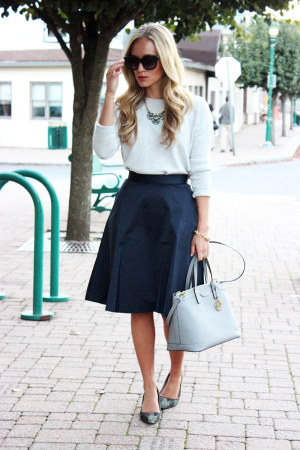 Navy and Gray for Fall