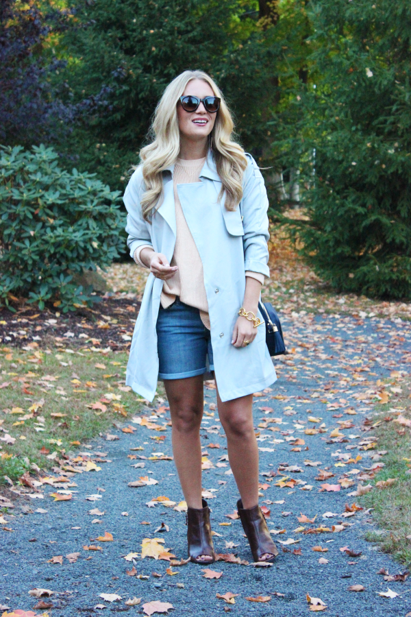Neutral Sweater with Trench