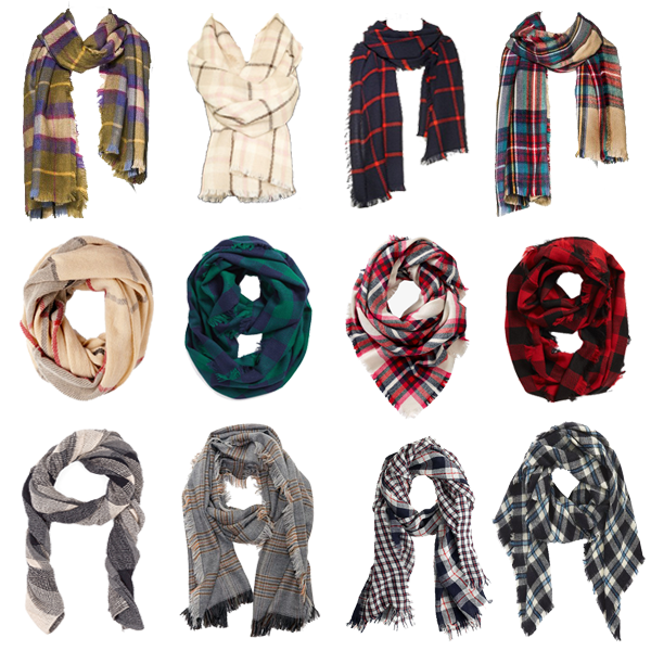 Plaid Scarves for Fall, Fall's Top Plaid Scarves, Best Plaid Scarf, Blanket Scarf