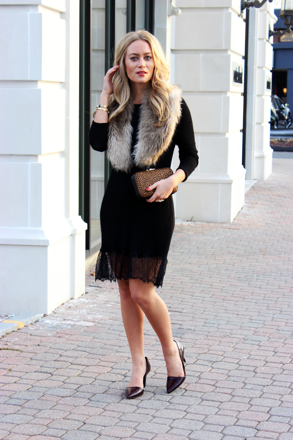 Easy Holiday Outfit with Fur