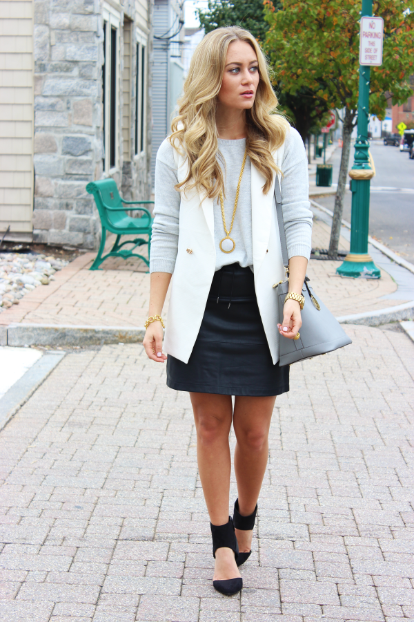 French Conneciton Leather Skirt