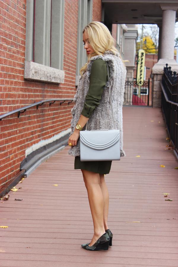 Gray Lauren Cecchi Bag