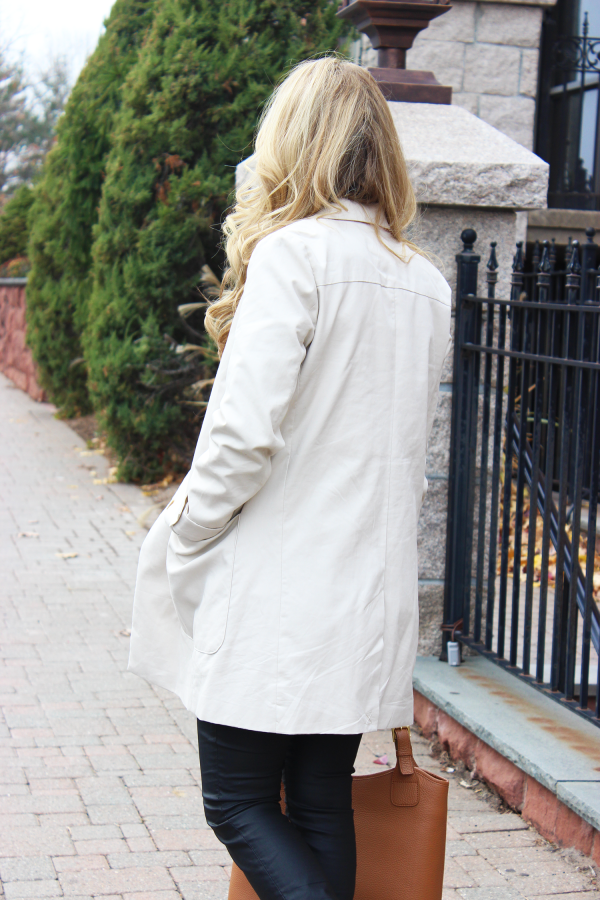 Neutral Trench Chic Style