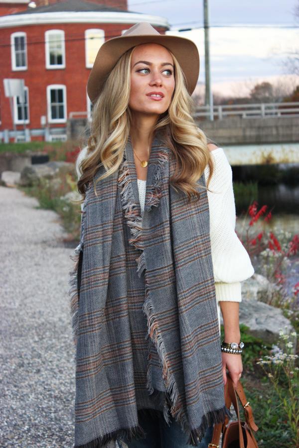 Style Cusp plaid scarf