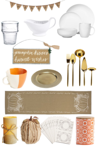 Thanksgiving Table Setting Holiday Decor