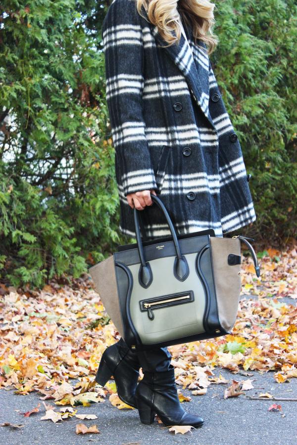 Topshop Coat and Celine Bag